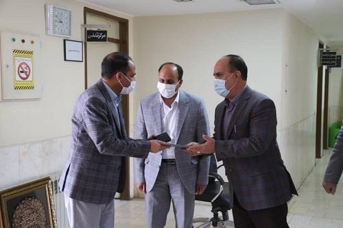 مراسم معارفه سرپرست جدید امور آب شهرستان زرند